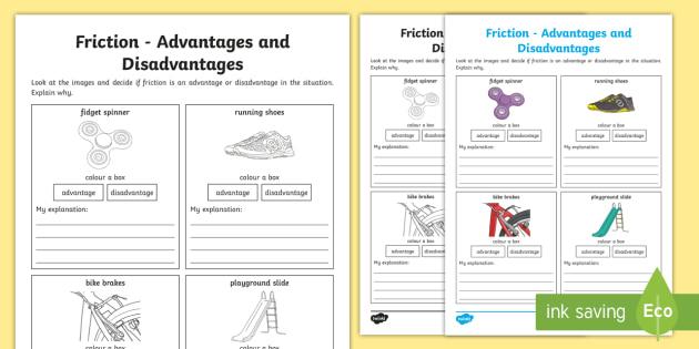 Friction Advantages and Disadvantages Worksheet / Worksheet.