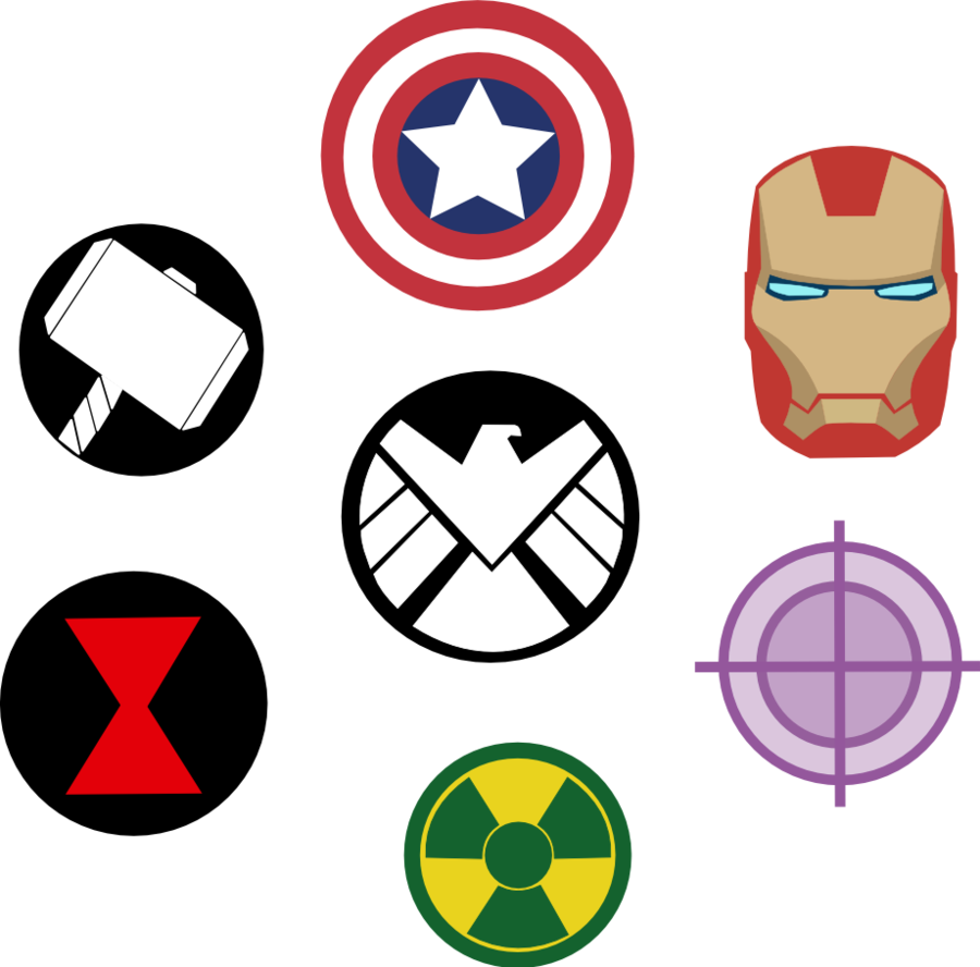 Marvel Avengers Symbols by Captain.