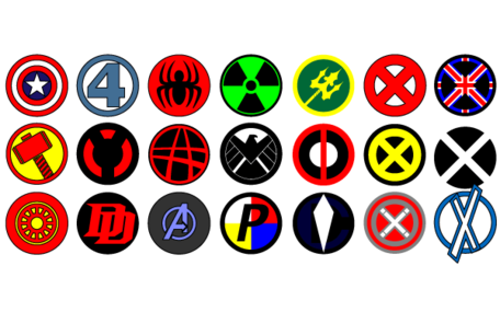 Vector Marvel logos Clipart Picture Free Download.
