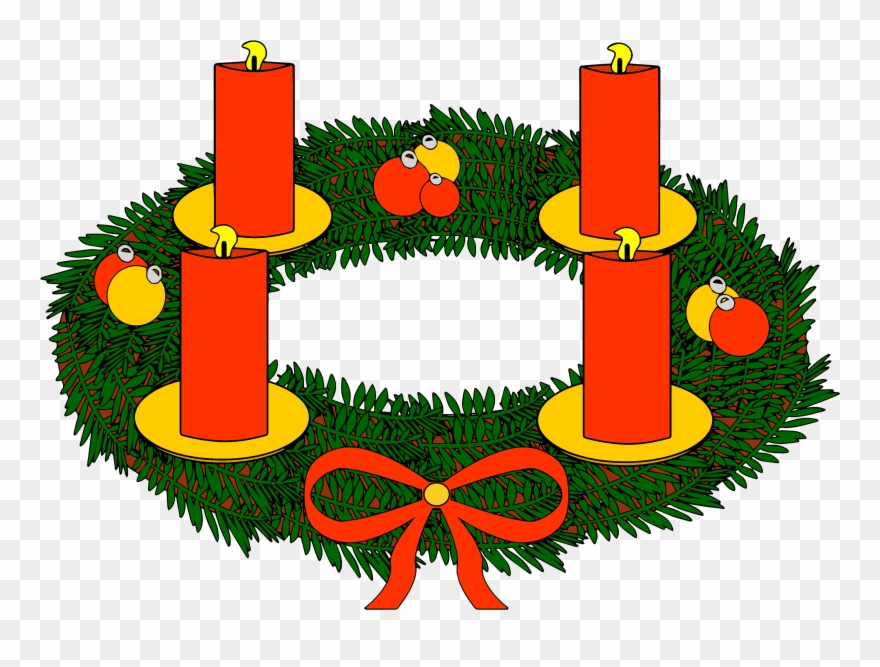 Banner Royalty Free Download Advent Wreath Clipart.