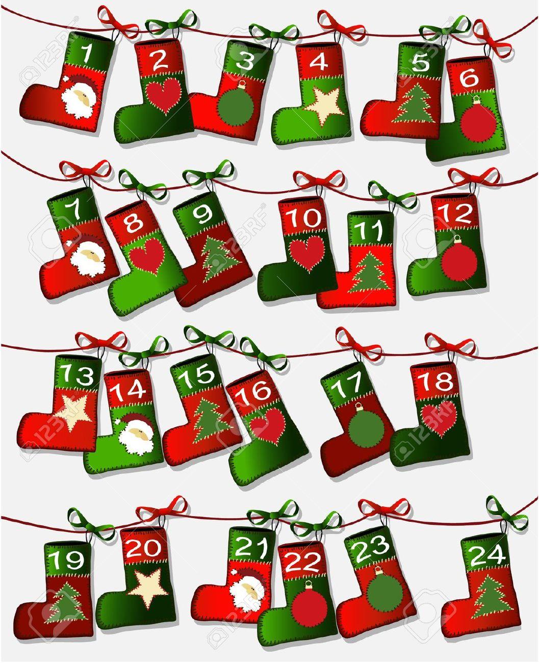 Advent calendar clipart free.