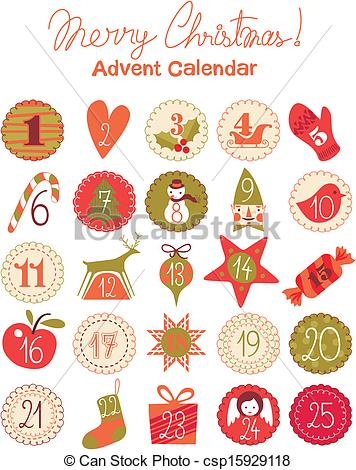 Vector Clip Art of Advent Calendar.