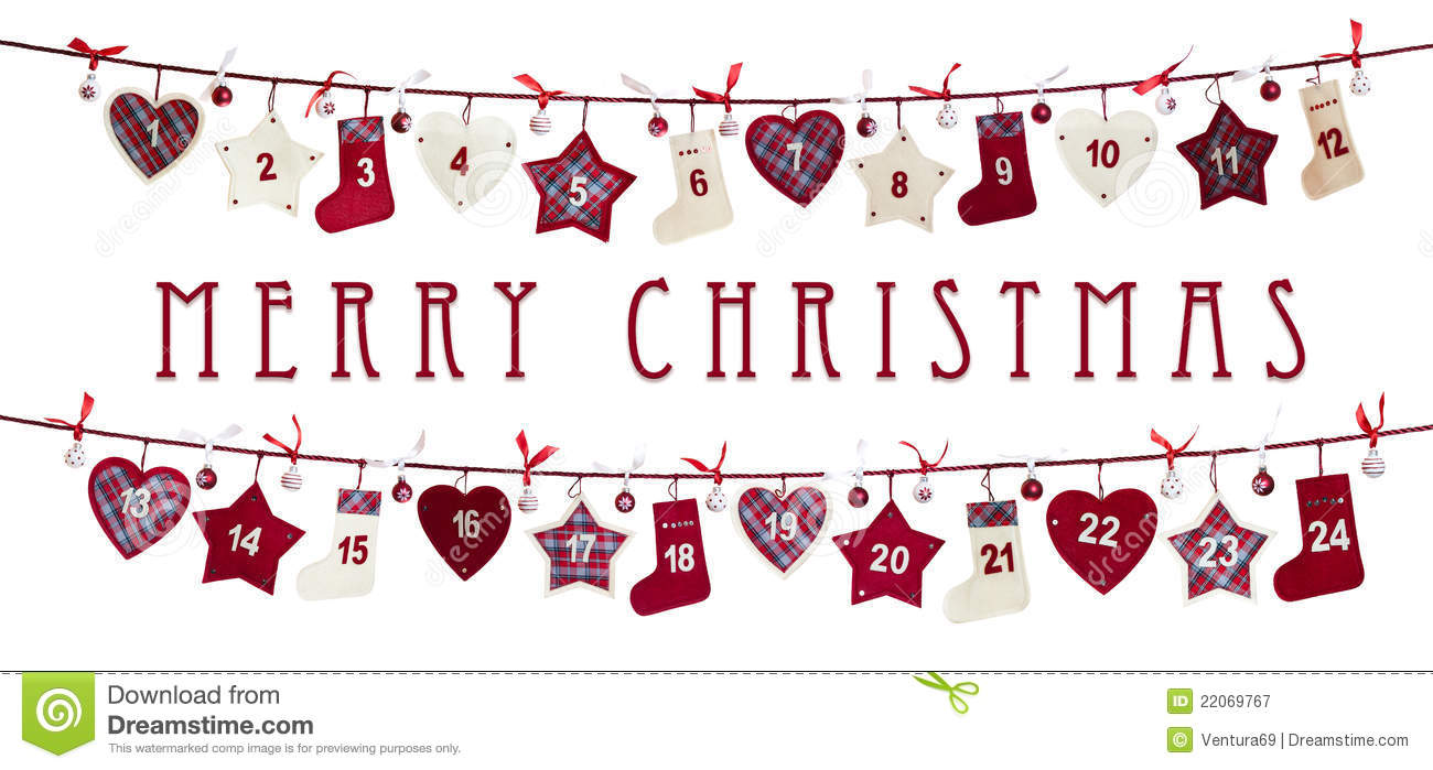 Free Christmas Advent Calendar Clipart.