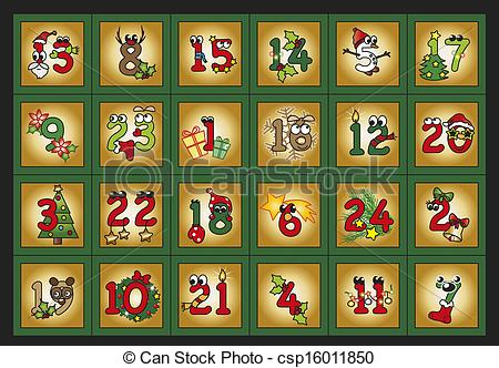 Advent calendar Clip Art and Stock Illustrations. 439 Advent.