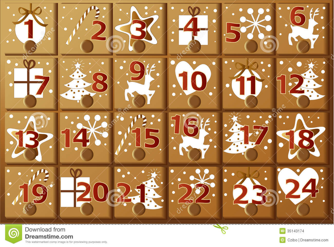 Advent Calendar Clip Art.