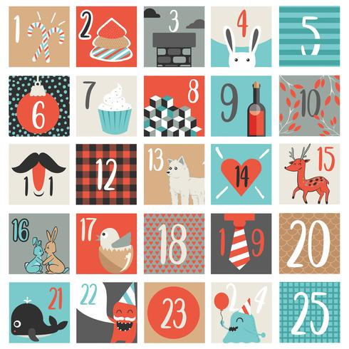 Advent Calendar Vector Design.