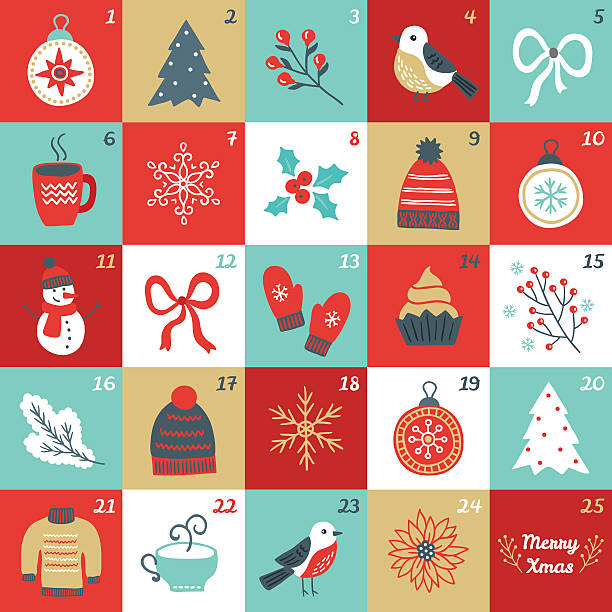 Advent Calendar Clipart.