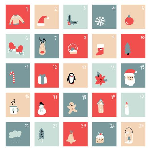 Simple Christmas Advent Calendar.