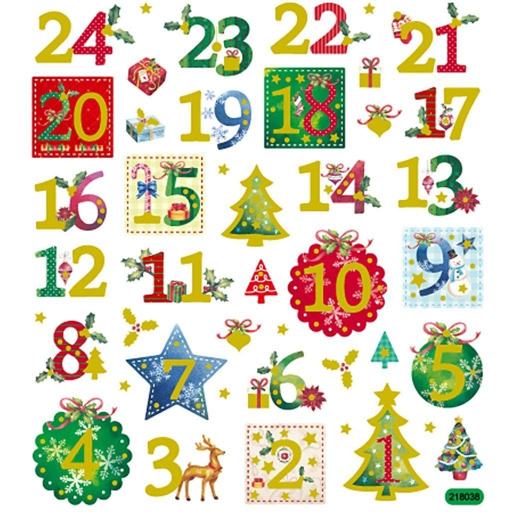 Christmas Advent Calendar Numbers 1.