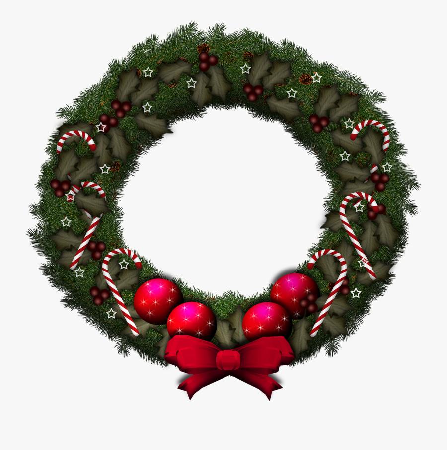 Vertical Wreath Png Transparent Backround.