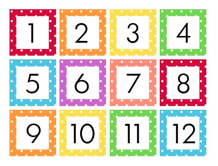 Calendar Numbers Clipart.