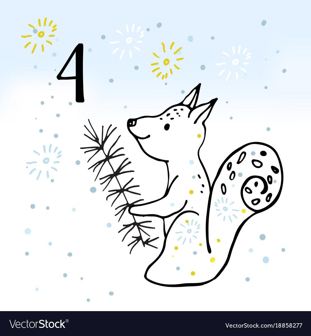 The advent calendar for christmas.