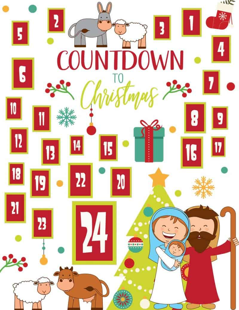 Religious Advent Calendar Clipart.