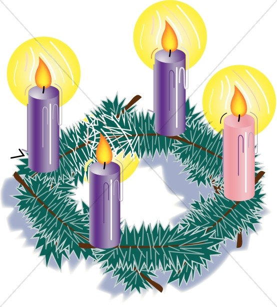 Christmas Candles Clipart.