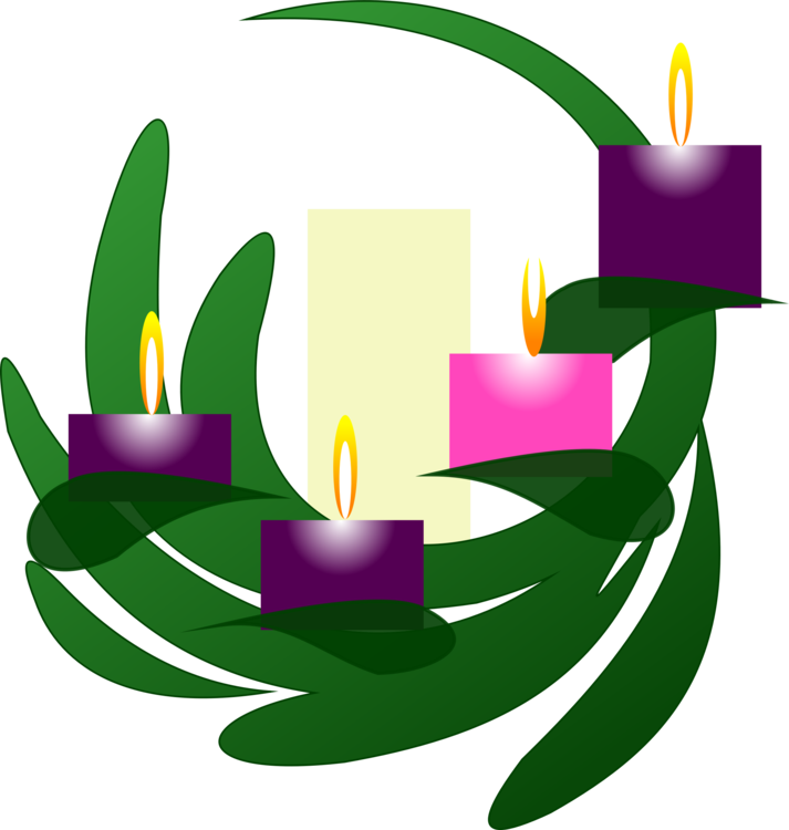 Download Free png Clip Art Christmas Advent candle Advent wreath.