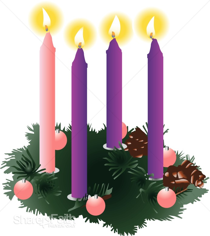 Advent Candles Christian Cliparts.