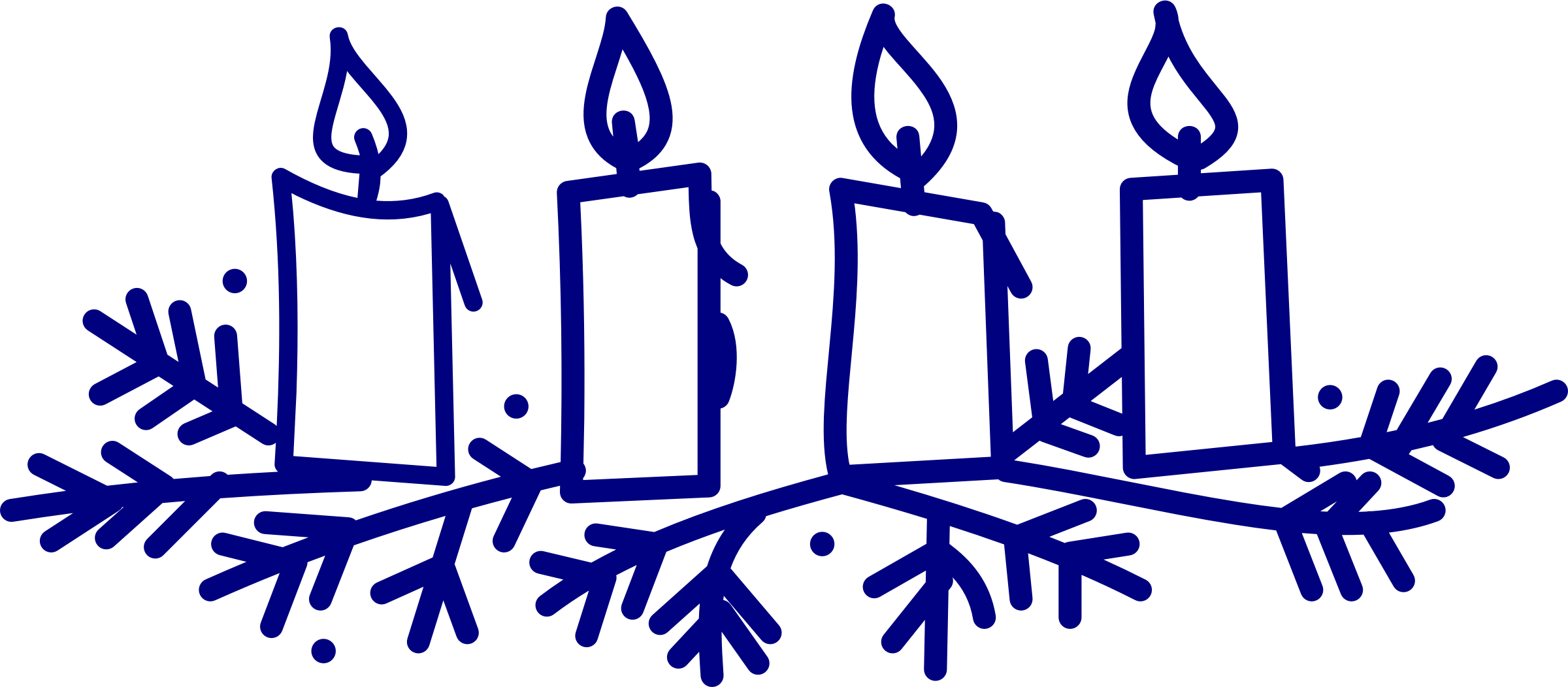 Clipart advent candles.
