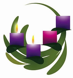 Advent wreath and candles clipart.