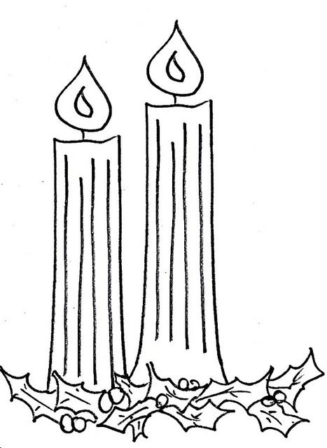 Advent candles clip art.