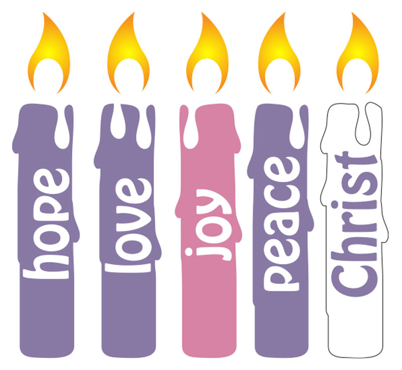Advent Candles Set.