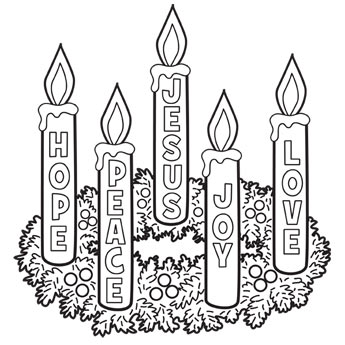 Advent Wreath Clipart Black And White.