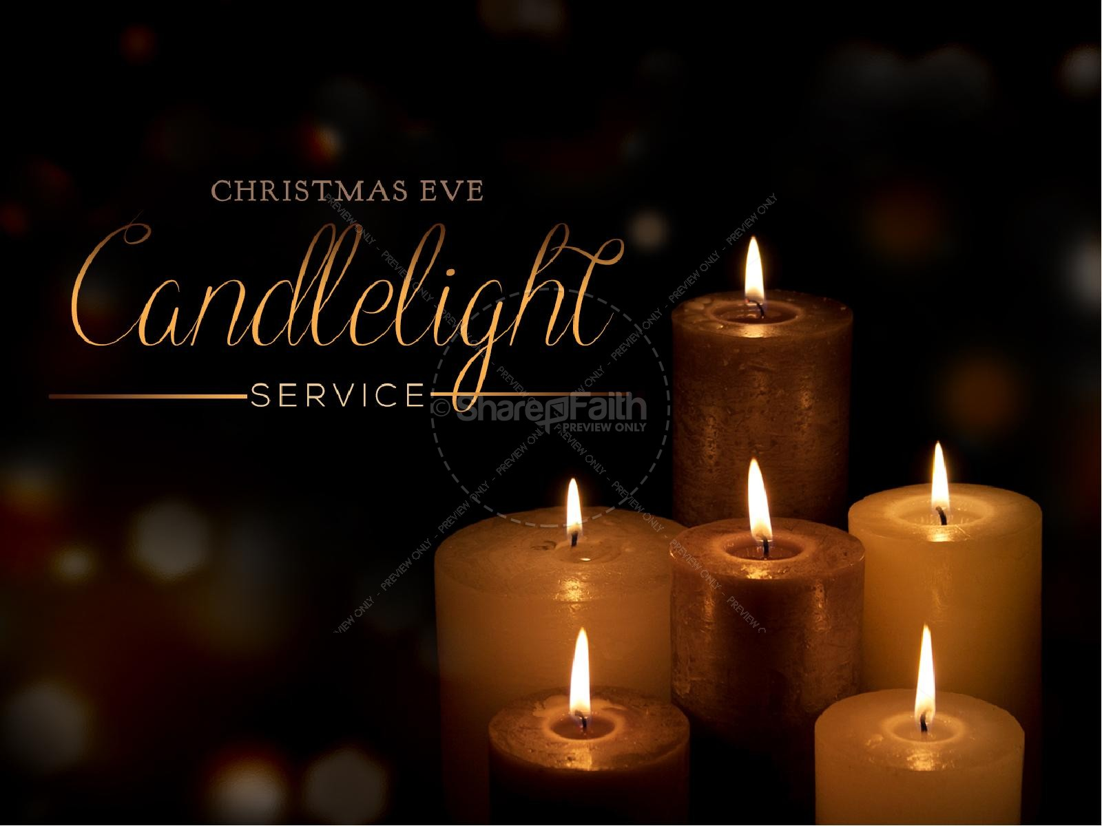 Christmas Eve Candlelight Service Clipart.