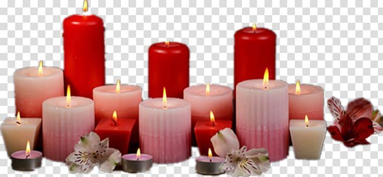 Candle Light Combustion, Burning candles transparent.
