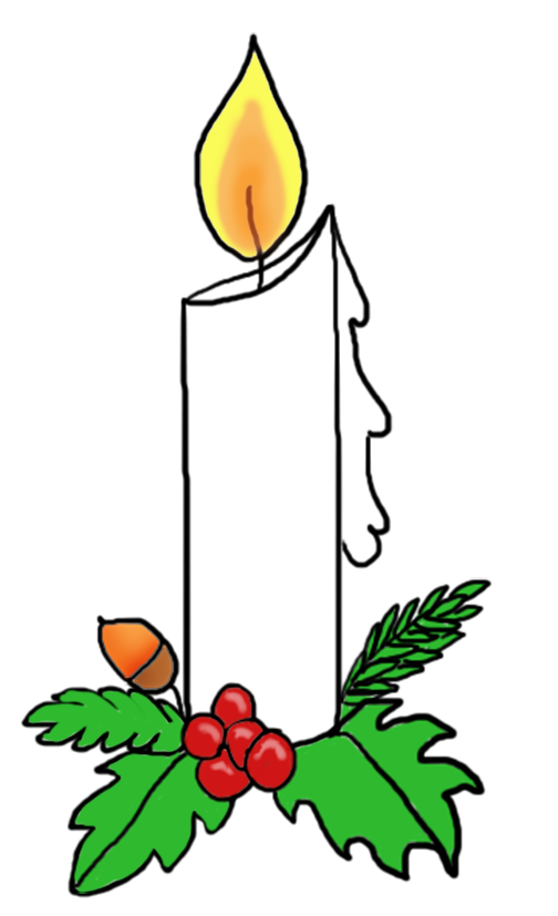 Candlelight Service Clipart Free.