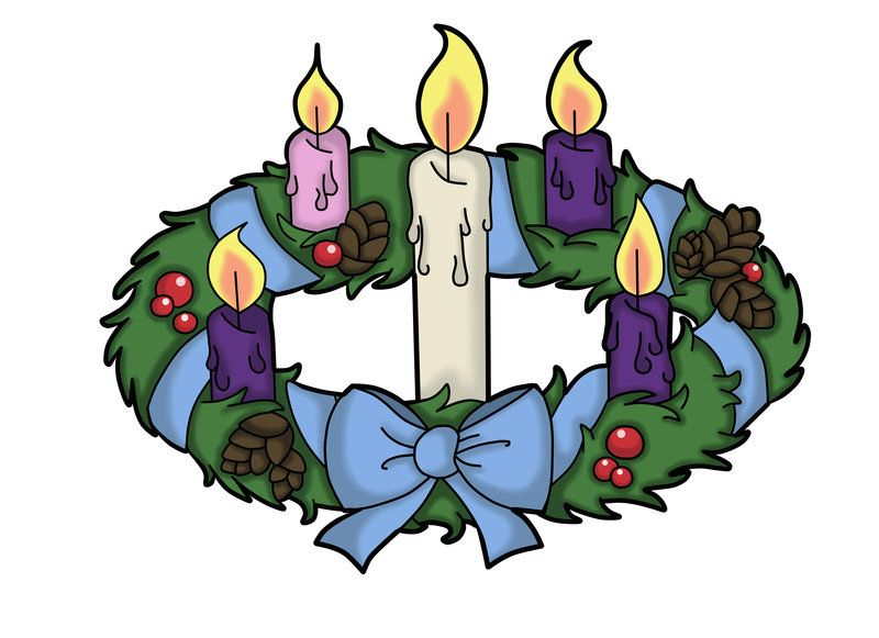 advent wreath by the black clover clipart.