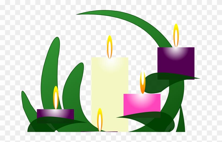 Clip Art Advent Candles.