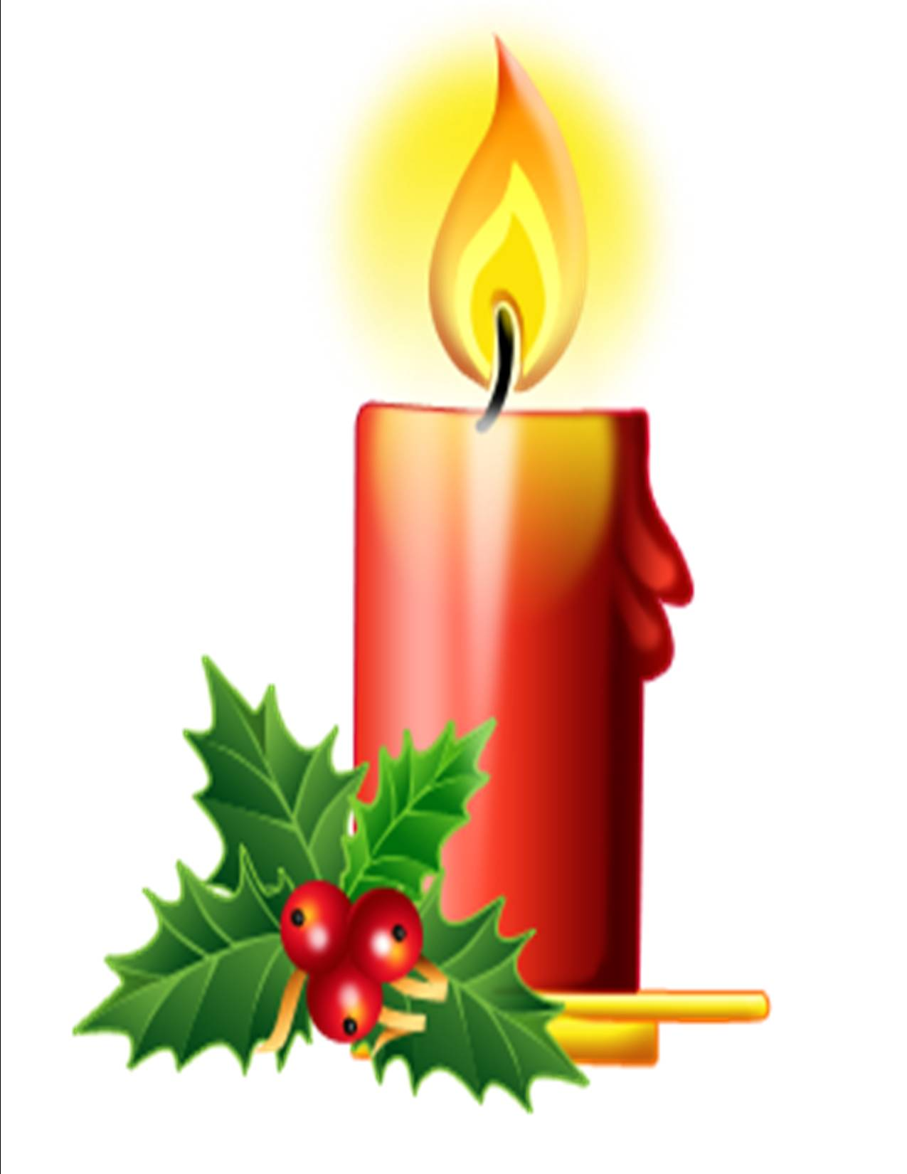 Christmas advent candles clipart.