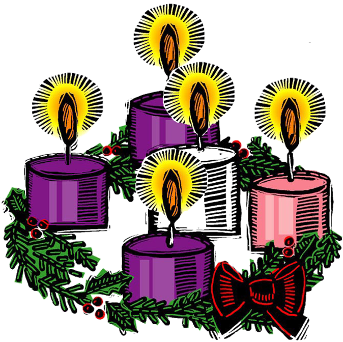 Advent wreath candles clipart.