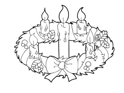 Advent Wreath Drawing images.