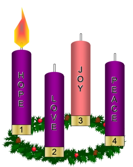 First Sunday In Advent Wreath Clipart.
