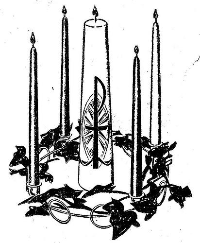 Similiar Black And White Advent Wreath Keywords.