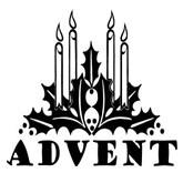 Similiar Black And White Advent Clip Art Keywords.