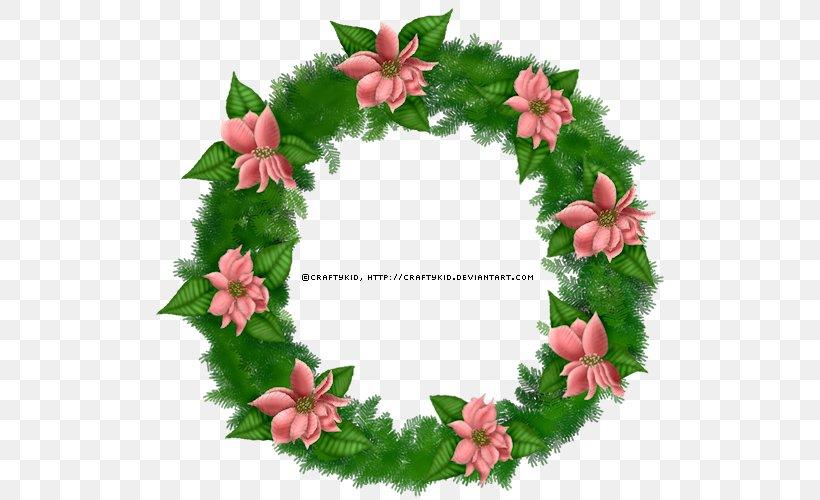 Wreath Christmas Floral Design Clip Art, PNG, 518x500px.