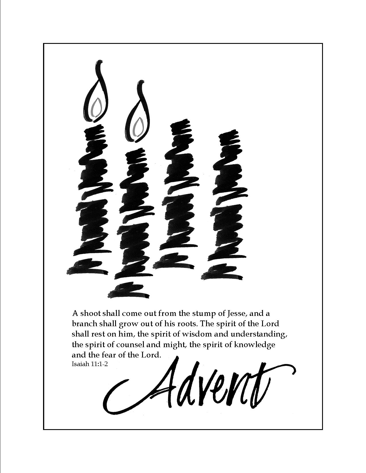 Advent Bulletin Clipart.