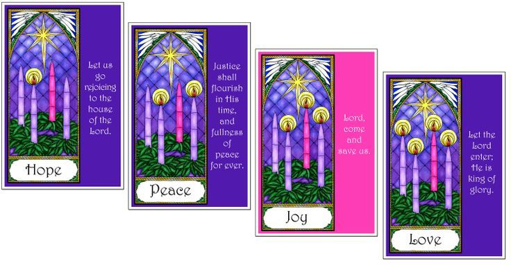 Catholic Advent Wreath Clip Art.