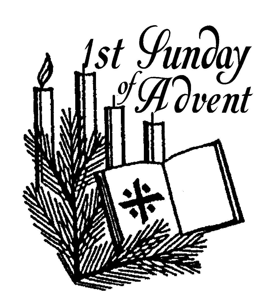 First Sunday Advent Clipart Black And White.