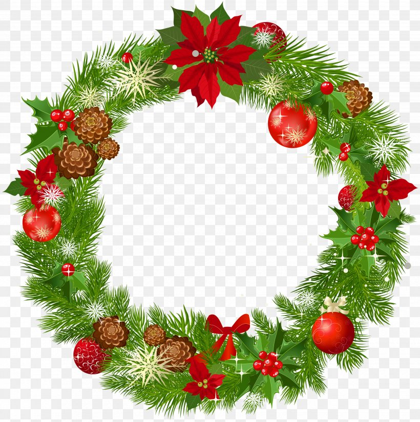 Wreath Christmas Decoration Garland Clip Art, PNG.