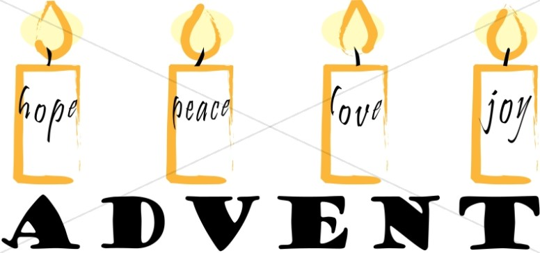 Christmas Word Art for Advent.