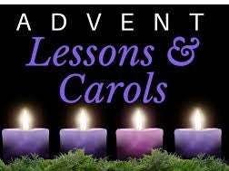 Advent Service of Lessons & Carols: Sunday, December 15, 4.