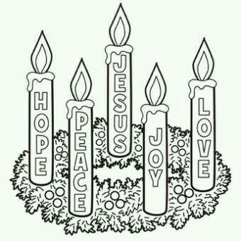 Hope, Peace, Jesus, Joy, Love.
