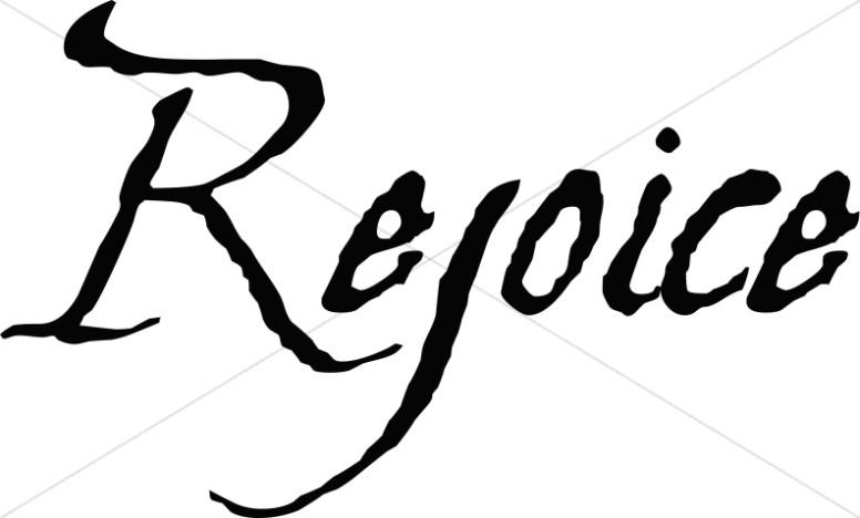 Rejoice Christian Word Art.