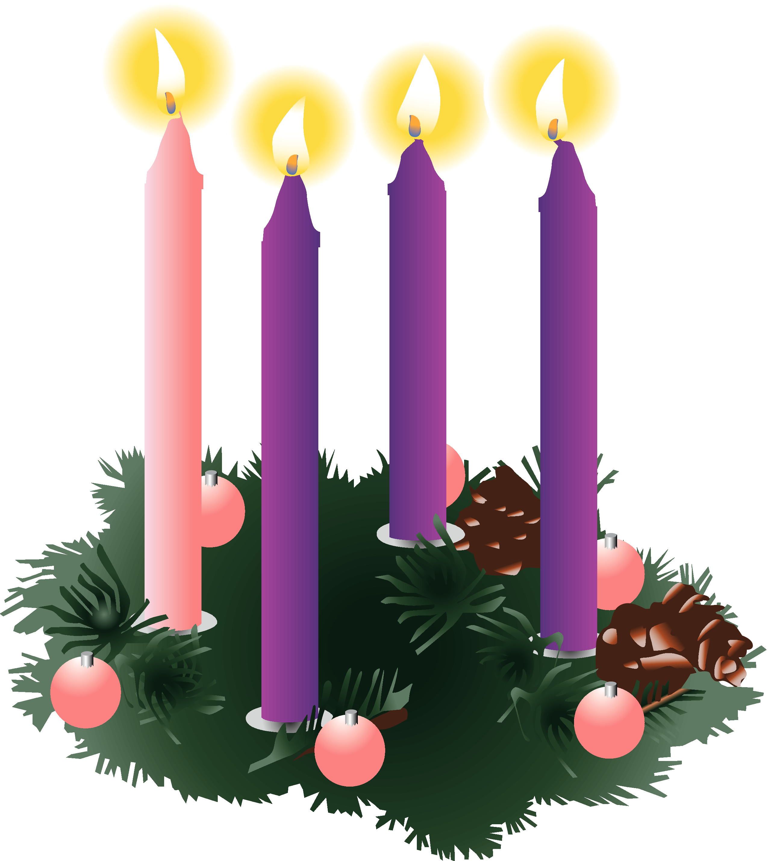 Fourth Week Of Advent Clipart.
