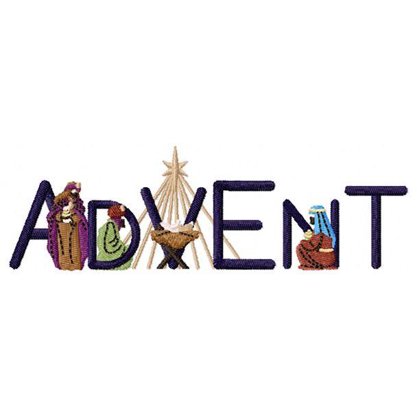 Advent Machine Embroidery Design.