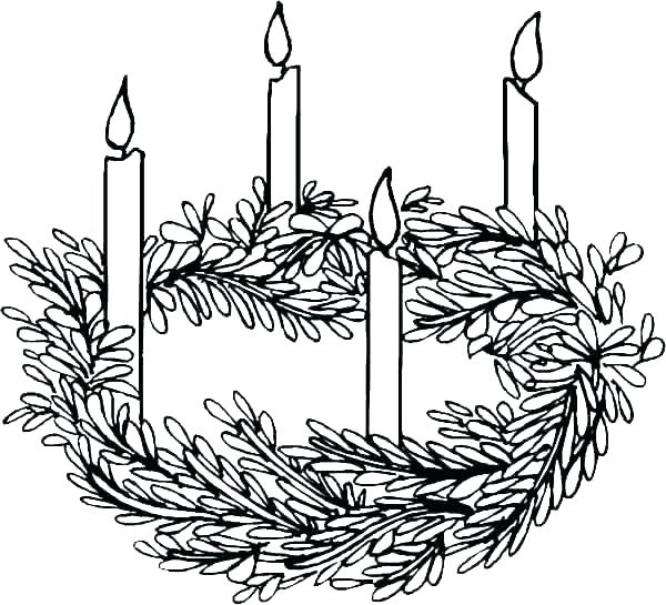 Advent Wreath Drawing at PaintingValley.com.