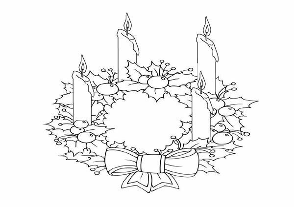 Advent Candles Drawing At GetDrawings.com #141803.