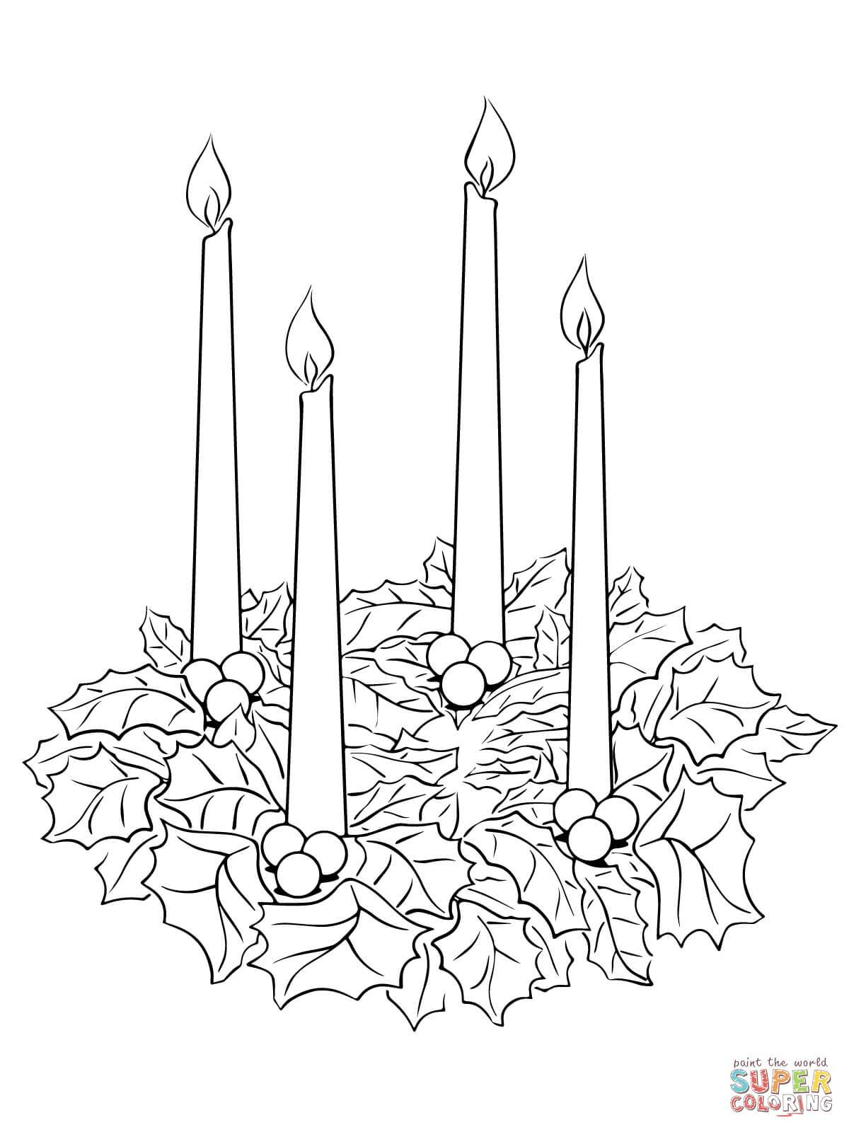 Advent wreath clipart black and white 5 » Clipart Portal.